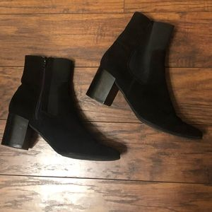 Express Faux suede black ankle boots